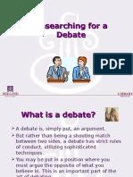 Research Debate 2010 2-1-10