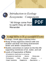 Introduction & Components of Ecosystem