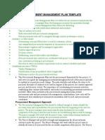 4. Procurement Management Plan Template