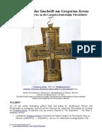 Entzifferung Der Inschrift Am Gregoriuskreuz Von Papst Gregorius an Die Langobardenkönigin Theodelinde