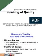 Quaity Definition