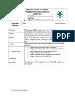 8.5.2.3 SOP Pemantauan Pelaksanaan Kebijakan Dan Prosedur Penanganan Bahan Berbahaya