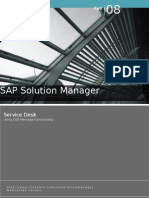 Sap Solution Manager - CHARM - ServiceDesk-OSS