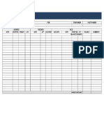 Blank Stock Inventory Control Spreadsheet