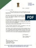 Ram Jethmalani's letter to CS Karnan