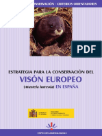 Plan de conservación del visón europeo (Mustela lutreola)