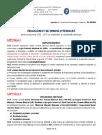 Regulamentul de Ordine Interioră ROI 2016-2017