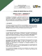 EDITAL0117- DIRGRAD Selecao de Monitoria 1s2017 - versao retificada - VERSAO 3.0.pdf