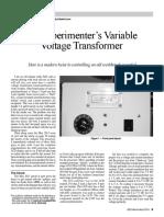 Arduino-based Variable Voltage Transformer