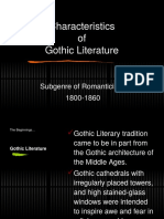 Gothicism Notes