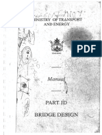 Part Jd -Bridge Design MInistry of transport Manual