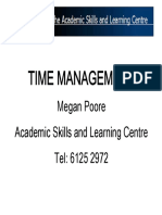 Hons Workshop Series Time Management Text Only