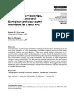 Declining Memberships Changing Members