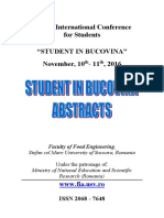 Abstracts Student in Bucovina 2016