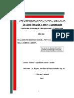 Análisis Sociológico de La Espina
