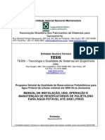 Manual de Instalação de Reservatórios de Polietileno Para Água Potável