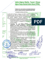 Subcentral Mujeres de TIPNIS Pronunciamiento, 3 Marzo 2017