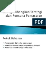 2. Strartegi Dan Rencana Pemasaran