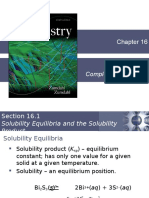 Chapter 16 - Solubility and Complex Ion Equilibria