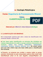 Geol. Met. Cap.6 Ppt Classificacao de Minerais.