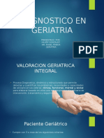 Diagnostico en Geriatría