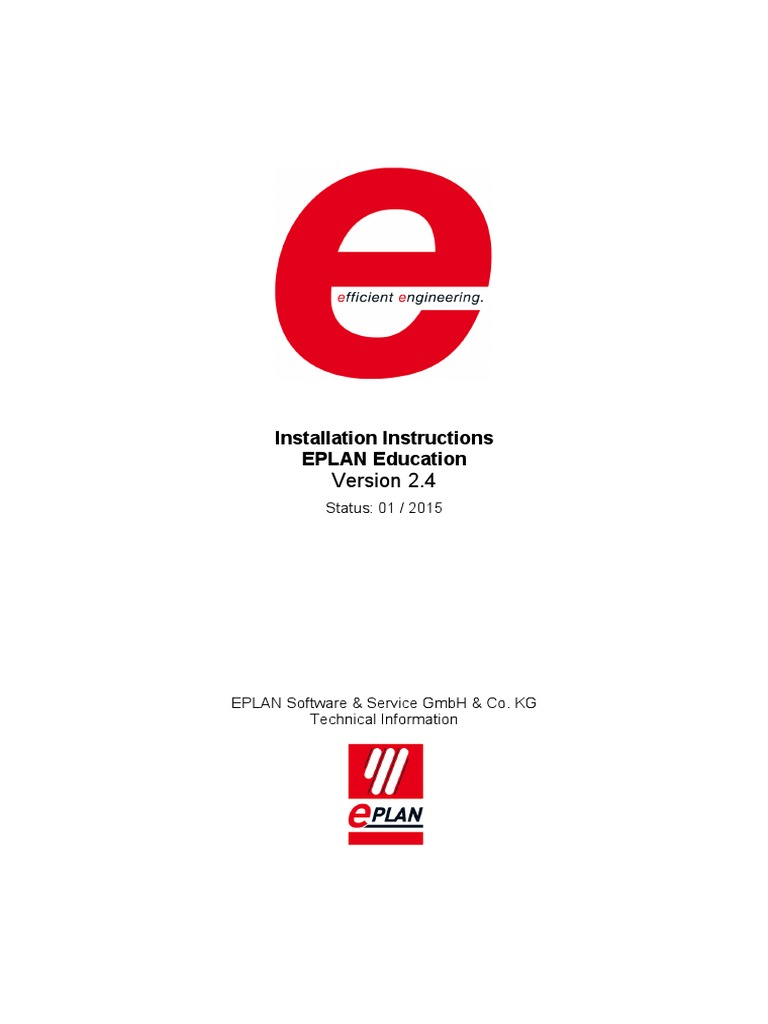 Eplan software solutions - Installation Instructions Eplan Education 2 4 64 Bit Computing Installation Computer Programs