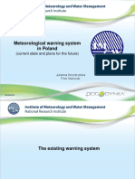 Meteorological warning system in Poland (by Piotr Maczak)