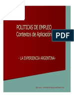 Políticas de Empleo El Caso ARGENTINA_M.lanari