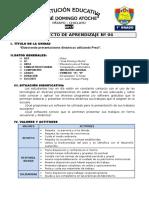 1° GRADO - PROYECTO DE APRENDIZAJE 04  - PREZI