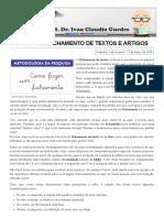 Como Fazer Fichamento de Textos e Artigos