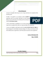 Internship Final Report of MCB