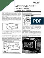 Lincwelder 60 Manual