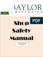 Shop Safety Manual Baylor 01062016
