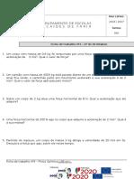 Ficha Trabalho Nº3 - 2ª Lei de Newton e Forças de Atrito