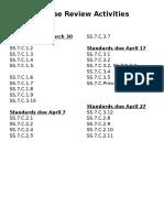 eoc activities calendar