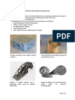 Additive Layer Manufacturing