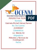 Perspectiva Teorica _ Metodologia de La Investigacion