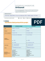 Formulaire Candidature Artisan