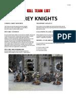 Kill Team List - Grey Knights v7.0.4
