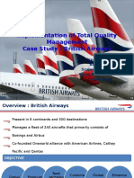 Implementation of Total Quality Management by British Airways