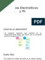 Cambios Electrolíticos y Ph