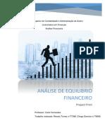 Analise de Equilibrio Financeiro