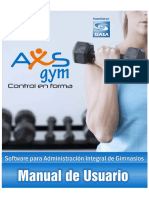 AxS Gym Software Manual