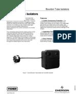 Bourdon Tube Isolator