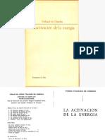 Teilhard de Chardin, Pierre - La Activación de La Energía