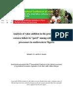 144. Analysis of value addition to cassava tuber.pdf