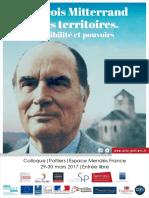 François Mitterrand et les territoires. Sensibilité et pouvoirs
