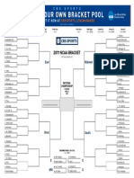 2017 March Madness Bracket