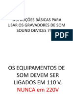 Tutorial Gravador Sound Devices