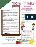 february 24 newsletter